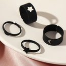new macaron color alloy spray paint star moon ring 2 piece set NHNZ367414