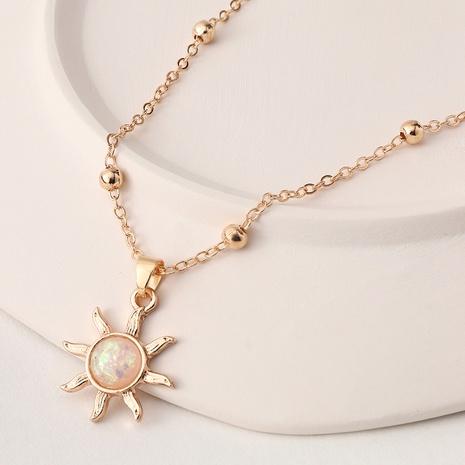 collier pendentif soleil en résine chaîne de perles de mode NHNZ367413's discount tags