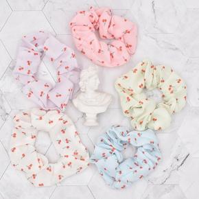 Korean style Cute Little Cherry Fruit Fabric Folds Children's Hair Rope  NHCL367418