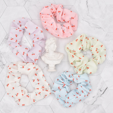 Korean style Cute Little Cherry Fruit Fabric Folds Children's Hair Rope  NHCL367418's discount tags