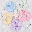korean style color polka dot fabric hair rope NHCL367421