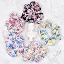 Korean style fabric big rose flower printing hair rope NHCL367422