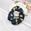 Retro Pineapple Fruit Fabric Printed Hair Rope NHCL367424