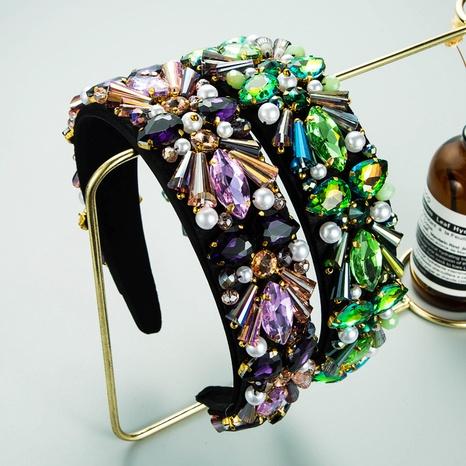 Diadema de color de contraste de perlas de cristal barroco al por mayor NHLN367433's discount tags