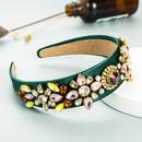 Baroque Fabric Inlaid Color Rhinestone Headband  NHLN367435