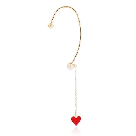 boucles d'oreilles pendantes en forme de coeur NHJJ367436's discount tags