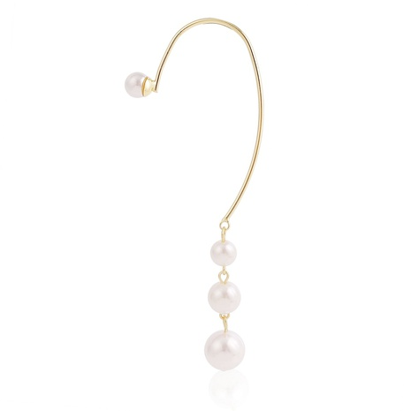 Pince à os d'oreille longue perle de goutte d'eau suspendue à l'arrière de style coréen NHJJ367442's discount tags