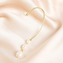 Korean style rear hanging water drop pearl long ear bone clip   NHJJ367442
