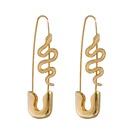 Korean Style Lock Snake Earrings  NHJJ367451