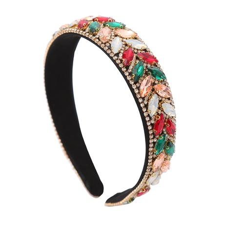 Incrustaciones retro con diadema de diamantes de imitación de color al por mayor NHJJ367463's discount tags
