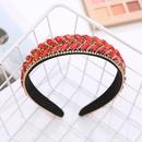 retro inlaid with color rhinestones headband wholesale  NHJJ367463