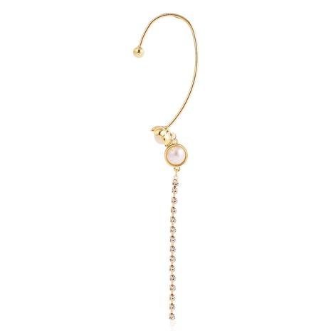 Boucles d'oreilles longues non percées en diamant de style coréen NHJJ367466's discount tags