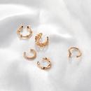 Korean style metal Cshaped heart shape geometric holeless single earrings NHDP367488