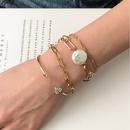 fashion chain resin microinlaid heart simple geometric bracelet NHMD367501