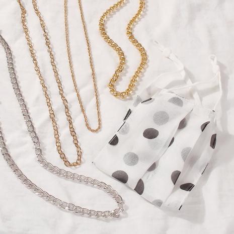 collier en alliage à chaîne épaisse géométrique à la mode NHMD367502's discount tags