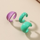Retro simple color alloy nonhole circle earrings threepiece set NHDP367531