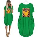 Fashion Short Sleeve Round Neck Printed Dress NHKO368807