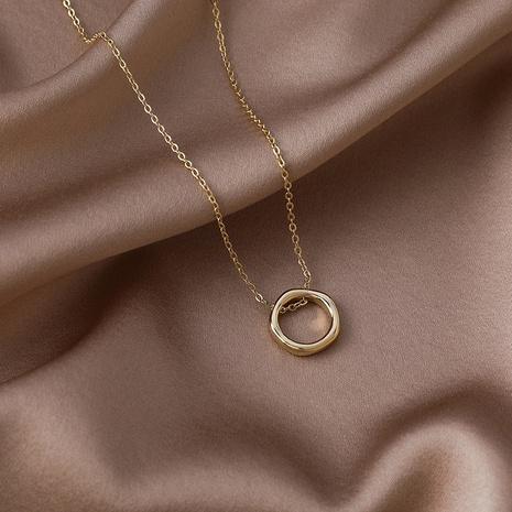 Pendentif anneau géométrique coréen chaîne de clavicule en alliage doré NHMS367555's discount tags