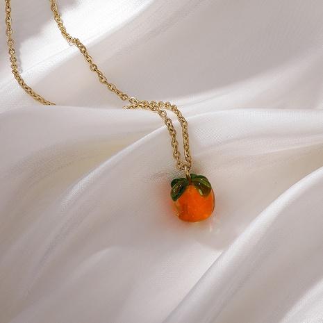 Chaîne de clavicule en acier titanique pendante de fruit simple en gros NHMS367558's discount tags