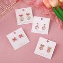 cute pink bows flower earrings wholesale  NHMS367566