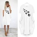 Fashion Printed Short Sleeve Round Neck Dress NHKO368809