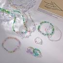 Korean style Retro Handmade Beaded Color Crystal Butterfly Necklace Bracelet Ring NHMS367573