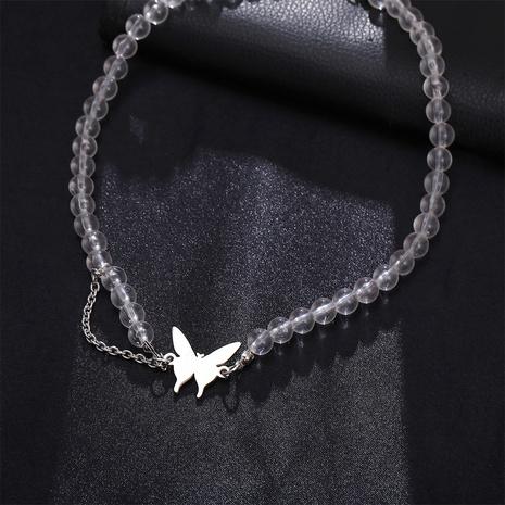 collier en alliage papillon simple perle ronde transparente NHPJ367597's discount tags