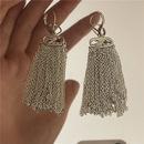 fashion gold finish brass chain tassel earrings  NHYQ367607