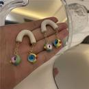 Korean style macaron color small monster earrings NHYQ367614