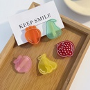 Korean style Cute cartoon fruit frosted hairpin  NHNA367625