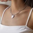 Retro geometric cloud pendent metal necklace  NHXR367687