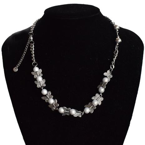 collier de chaîne de papillon de perle réfléchissante de mode en gros NHNT367779's discount tags