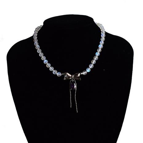 Collier pendentif à la mode avec des perles givrées en Zircon NHNT367816's discount tags