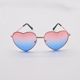 fashion heart-shaped metal frame sunglasses NHNT367821