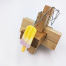 simple threecolor ice cream pendant necklace  NHDI367824