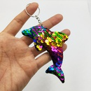 fashion doublesided reflective PET sequined fish scale dolphin pendant keychain  NHDI367832