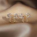 Bowknot Diamond metal stud earrings NHOT367839