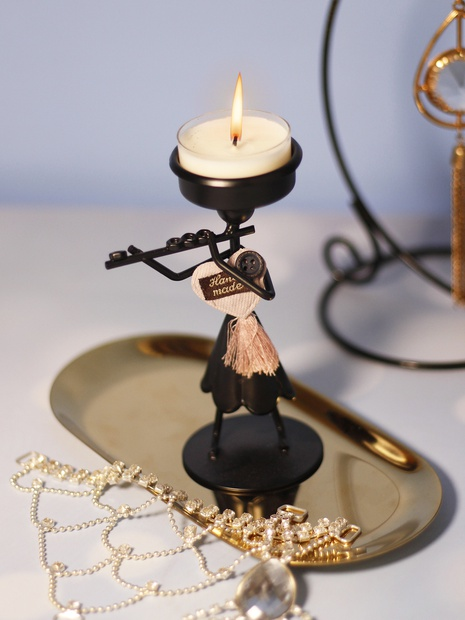 Creative wrought iron decoration stitching candlestick NHLAW368287's discount tags