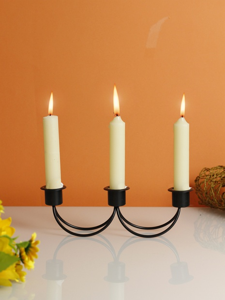 Creative stitching candle stickiron wrought decoration NHLAW368380's discount tags