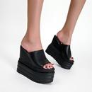 nouvelles pantoufles en cuir  plateforme d39eau  talons hauts et compenses  la mode NHSO367869