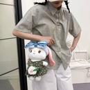 Cartoon cute plush girl doll oneshoulder messenger chain small bag   NHAV367943