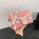 korean style heart shape lock messenger small square bag NHAV367960