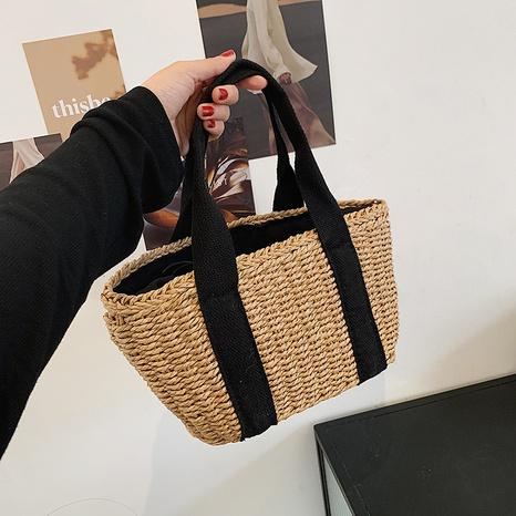 fashion shoulder diagonal straw woven bag  NHJZ367973's discount tags