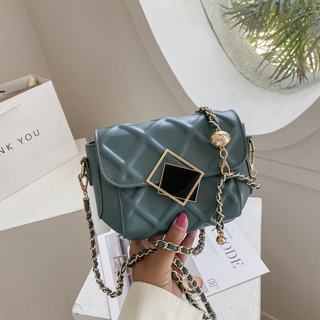 fashion small golden ball chain plaid pattern messenger shoulder small bag  NHJZ367968's discount tags