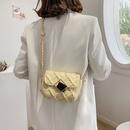 fashion small golden ball chain plaid pattern messenger shoulder small bag  NHJZ367968