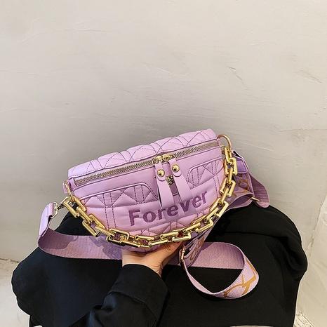 fashion chain wide shoulder strap shoulder messenger chest bag NHJZ367963's discount tags