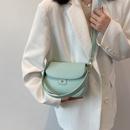 fashion solid color messenger oneshoulder armpit small square bag NHJZ367972