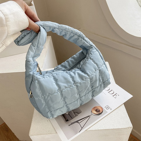 fashion candy color soft lightweight pleated one-shoulder underarm bag   NHJZ367964's discount tags