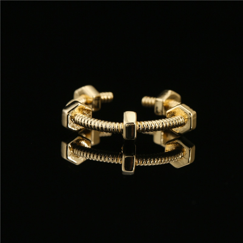 simple geometric screw opening copper ring  NHFMO367983