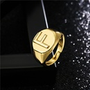 fashion copper microinlaid English alphabet open adjustable ring  NHFMO368016